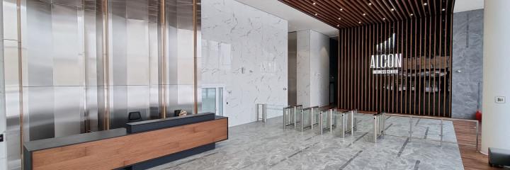 Лобби бизнес-центра Alcon II – победитель премии Best Office Awards